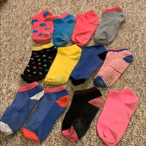 Lot of mismatched socks.
